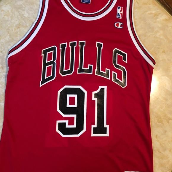 Champion Other - VTG Champion Chicago Bulls Rodman Jersey